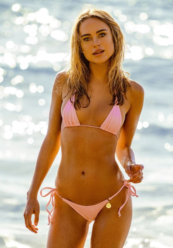 Kimberley Garner in a Pink Bikini - Photoshoot in Saint-Tropez 08/20/2020