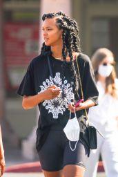 Lais Ribeiro Shows Off Her New Hairstyle - Malibu 08/27/2020