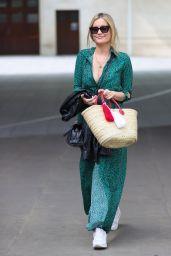 Laura Whitmore in Animal Print Split Dress - London 08/16/2020