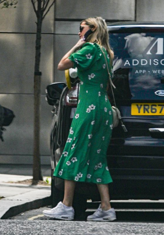 Laura Whitmore - Leaving the BBC Radio 5 Studios in London 08/02/2020