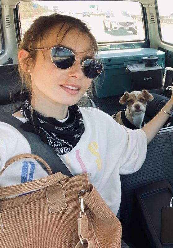 Lily Collins - Social Media Photos 08/04/2020