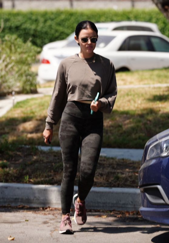 Lucy Hale at a Park in Studio City 08/04/2020