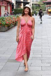 Lucy Horobin in Polka Dot at Heart Dance Radio in London 08/18/2020