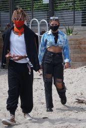 Mackenzie Ziegler and Kailand Morris at the Beach in Malibu 08/23/2020