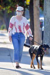Meryl Streep - Takes Her Dog on a Walk in Santa Monica 08/25/2020