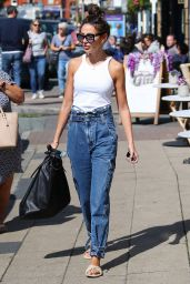 Michelle Keegan Street Style - Out in Hale 08/24/2020