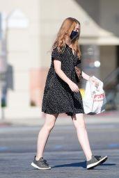 Molly Quinn - Shopping at a CVS in LA 08/15/2020