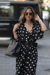 Myleene Klass in Monochrome Polka Dot Maxi Dress - London 08/26/2020