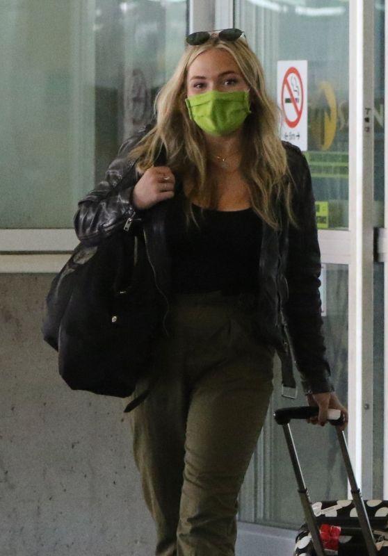 Natalie Alyn Lind - Arrives Into Vancouver 08/02/2020