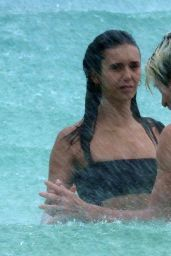 Nina Dobrev and Shaun White at the Beach in Tulum 08/21/2020