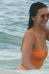 Nina Dobrev in Swimsuit - Beach in Tulum 08/21/2020