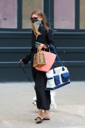 Olivia Palermo - Taking Her Dog For a Walk in Brooklyn 08/18/2020