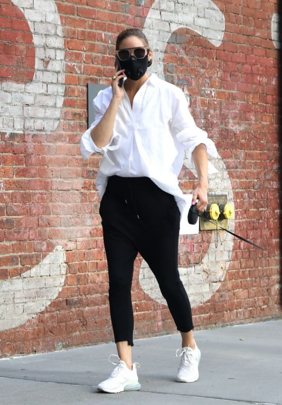 Olivia Palermo - Walking Her Dog Mr. Butler in NYC 07/28/2020