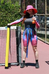 Phoebe Price on the Tennis Courts in Los Angeles 08/11/2020