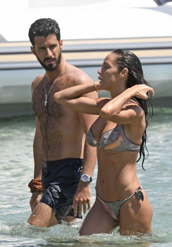 Raffaella Fico on the Beach in Mykonos 08/11/2020