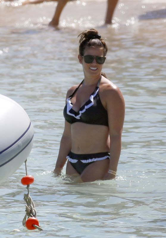 Rebekah Vardy on a Beach in Ibiza 08/06/2020