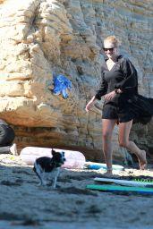 Rosie Huntington-Whiteley on the Beach in Malibu 08/09/2020