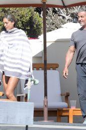 Sistine Stallone and Sylvester Stallone - Beach in Malibu 08/09/2020