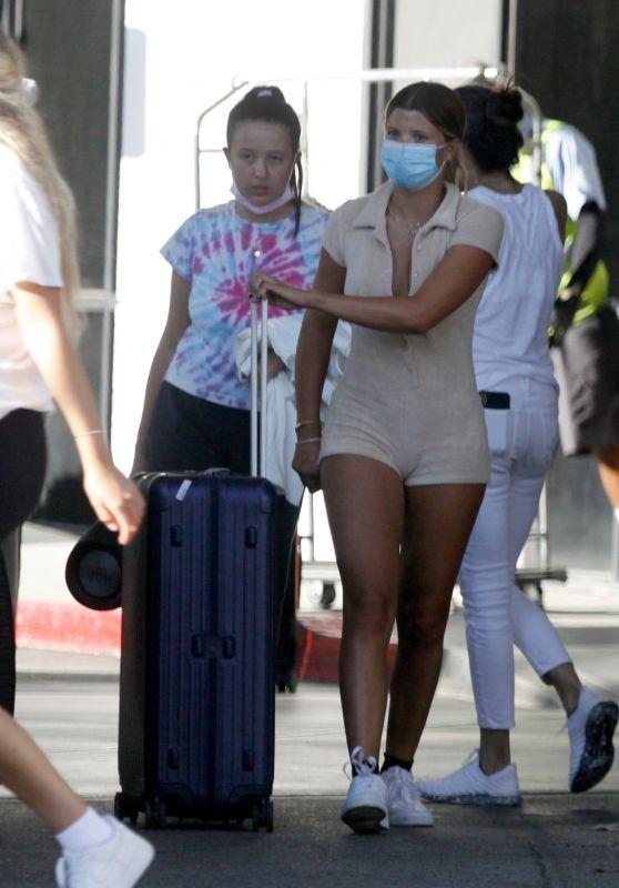 Sofia Richie and Anastasia Karanikolaou - Returns From Cabo San Lucas 08/26/2020