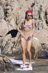 Suki Waterhouse in a Bikini on the Beach in Saint Jean Cap Ferat 07/31/2020