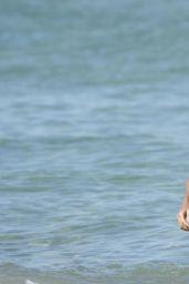 Sylvie Meis in a Bikini on the Beach in Saint-Tropez 08/11/2020