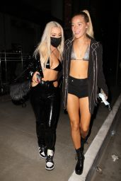 Tana Mongeau and Olivia Ponton Night Out - Tao Restaurant in West Hollywood 08/25/2020