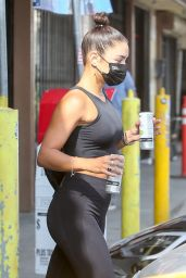Vanessa Hudgens in Gym Ready Outfit - Hollywood 08/17/2020
