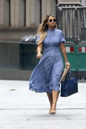 Vogue Williams in Blue Summer Dress - London 08/16/2020