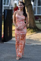 """Yazmin Oukhellou - """"The Only Way is Essex"""" TV Show Filming in London 08/09/2020"""