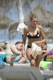 Zara McDermott in a Bikini - Beach in Marbella 07/11/2020