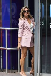 Zoe Hardman in a Pink Short Suit - Leicester Square 08/13/2020