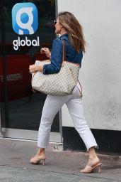 Zoe Hardman in Denim Jacket and Jeans - London 08/24/2020