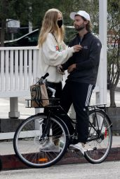 Abby Champion and Patrick Schwarzenegger - Cycling in LA 08/31/2020
