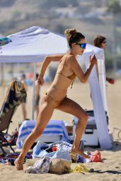 Alessandra Ambrosio in a Bikini on the Beach in LA 09/05/2020