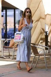 Alessandra Ambrosio in a Linen Sundress - LA 09/22/2020