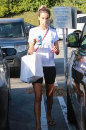 Alessandra Ambrosio in Workout Clothes at Brentwood Country Mart 09/25/2020