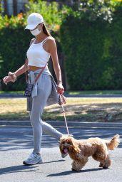 Alessandra Ambrosio on a Dog Walk in LA 09/03/2020