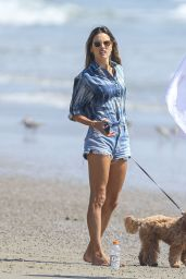Alessandra Ambrosio on the Beach in Malibu 09/04/2020