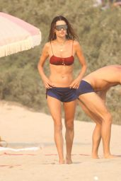Alessandra Ambrosio - Playing Volleyball in Malibu 09/13/2020