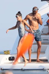 Alize Lim On a Yacht at St Tropez 09/08/2020