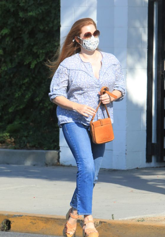 Amy Adams - Leaving a Hair Salon in Beverly Hills 09/04/2020