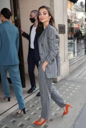 Amy Jackson in a Pantsuit - Out in London 09/02/2020