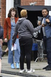 "Amy Wren, Catherine Tyldelsey and Alexandra Roach - New ITV Drama ""Viewpoint"" Filming in Manchester 09/03/2020"