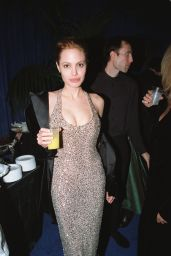 Angelina Jolie and Gillian Anderson - Miramax Golden Globe 1999 Party