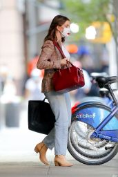 Anne Hathaway in a Casual Outfit - NYC 09/19/2020