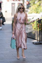 Ashley Roberts in a Blush Pink Backless Dress - London 09/14/2020