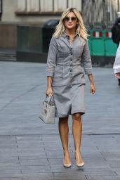 Ashley Roberts in a Light-Wash Denim Dress - London 09/22/2020