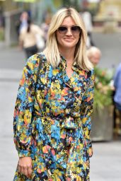 Ashley Roberts in Floral Print Dress 09/09/2020