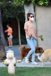 Aubrey Plaza - Walking Her Dogs in LA 09/29/2020