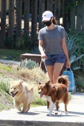 Aubrey Plaza - Walking Her Dogs in Los Feliz 08/15/2020